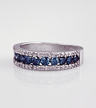 Effy® 14K White Gold Blue Diamond Ring