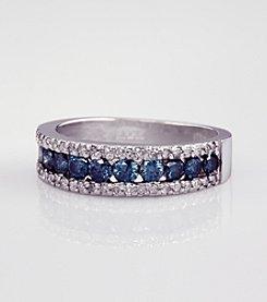 Effy® 14K White Gold Blue Diamond Ring