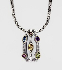 Effy® Balissima 18K Yellow Gold Sterling Silver Pendant Necklace - Multi