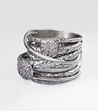 Effy® Balissima Sterling Silver .15 ct. t.w. Diamond Ring