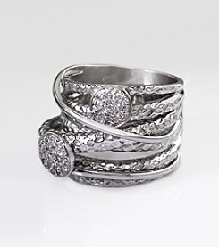 Effy® Balissima Sterling Silver .15 ct. t.w. Diamond Ring