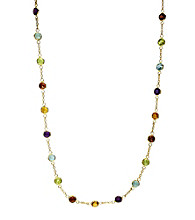 Effy® 14K Yellow Gold Chain Station Necklace - Multi