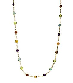 Effy® Mosaic Collection 14K Yellow Gold Chain Multi-Gem Station Necklace
