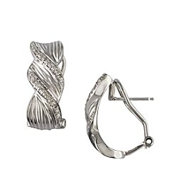 Effy® Balissima Sterling Silver .24 ct. t.w. Diamond Earrings