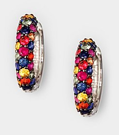 Effy® Sterling Silver Sapphire Hoop Earrings - Multi