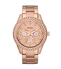 Fossil® Women's Rose Goldtone Stella Stainless Steel Watch