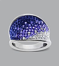 Impressions® Sterling Silver Swarovski® Elements Fade Ring - Purple