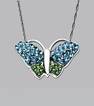 Impressions® Sterling Silver Swarovski® Elements Pendant Necklace - Butterfly