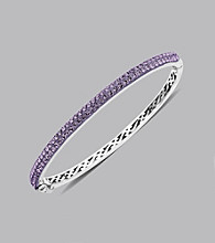 Impressions® Sterling Silver Swarovski® Elements Bangle Bracelet - Purple