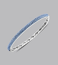 Impressions® Sterling Silver Swarovski® Elements Bangle Bracelet - Blue