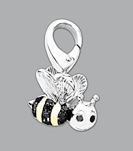 14k Yellow Gold Sterling Silver .06 ct. tw. Bumblebee Charm