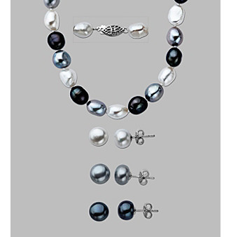 Sterling Silver Freshwater Pearl 4-pc. Jewelry Set