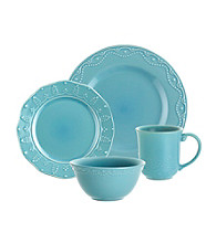 Paula Deen® Signature Aqua Bas Relief Whitaker 16-pc. Dinnerware Set