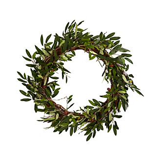 "Nearly Natural® 20"" Olive Wreath"