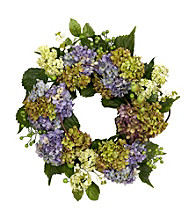 "Nearly Natural® 22"" Hydrangea Wreath"