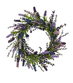 "Nearly Natural® 20"" Lavender Wreath"
