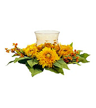 Nearly Natural® Golden Sunflower Candelabrum Silk Flower Arrangement