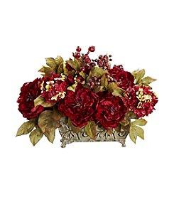 Nearly Natural® Peony & Hydrangea Silk Flower Arrangement
