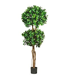 Nearly Natural® 5.5' Eucalyptus Double Ball Topiary Silk Tree