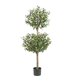 Nearly Natural® 4.5' Olive Double Topiary Silk Tree