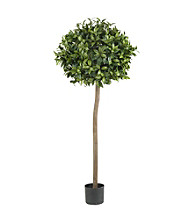 Nearly Natural® 5' Sweet Bay Ball Topiary Silk Tree