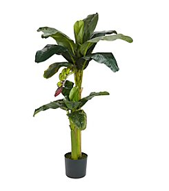 Nearly Natural® 5' and 3' Banana Silk Tree with Bananas