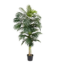 Nearly Natural® 8' Golden Cane Palm Silk Tree