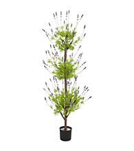 Nearly Natural® 4' Lavender Topiary Silk Tree