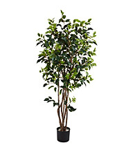 Nearly Natural® 5' Ficus Bushy Silk Tree