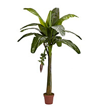 Nearly Natural® 6' Banana Silk Tree (Real Touch)