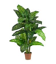 Nearly Natural® 5' Dieffenbachia Silk Plant (Real Touch)