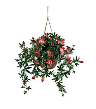 Nearly Natural® Passion Flower Silk Hanging Basket