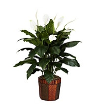 Nearly Natural® Spathyfillum with Vase Silk Plant