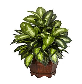 Nearly Natural® Golden Dieffenbachia Silk Plant