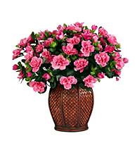 Nearly Natural® Azalea with Vase Silk Plant