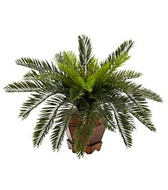Nearly Natural® Cycas with Hexagon Vase Silk Plant