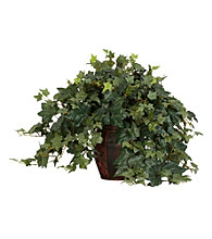Nearly Natural® Puff Ivy with Decorative Vase Silk Plant