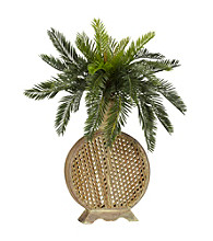 Nearly Natural® Cycas with Decorative Vase Silk Plant