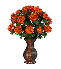 Nearly Natural® Spider Mum with Urn Silk Plant