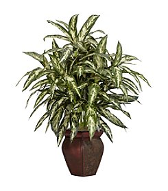 Nearly Natural® Aglonema with Decorative Vase Silk Plant