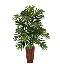 Nearly Natural® Areca Palm with Bamboo Vase Silk Plant