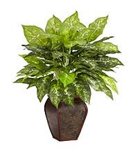 Nearly Natural® Dieffenbachia with Decorative Vase Silk Plant