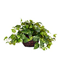 Nearly Natural® Pothos with Decorative Vase Silk Plant