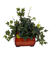 Nearly Natural® Puff Ivy with Chest Silk Plant