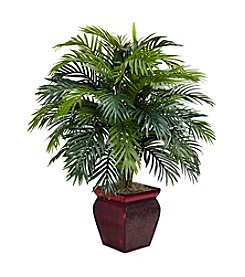 Nearly Natural® Areca with Decorative Planter Silk Plant