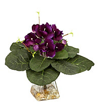 Nearly Natural® Gloxina with Vase Silk Plant