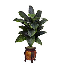 Nearly Natural® Giant Spathyfillum with Decorative Vase Silk Plant