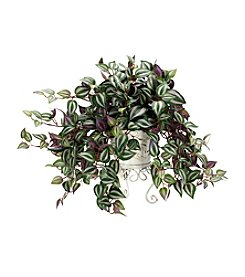 Nearly Natural® Wandering Jew with Metal Planter Silk Plant