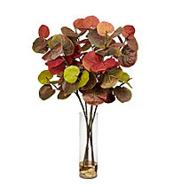 Nearly Natural® Giant Sea Grape Leaf with Cylinder Silk Plant