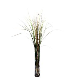 Nearly Natural® Grass & Bamboo with Cylinder Silk Plant